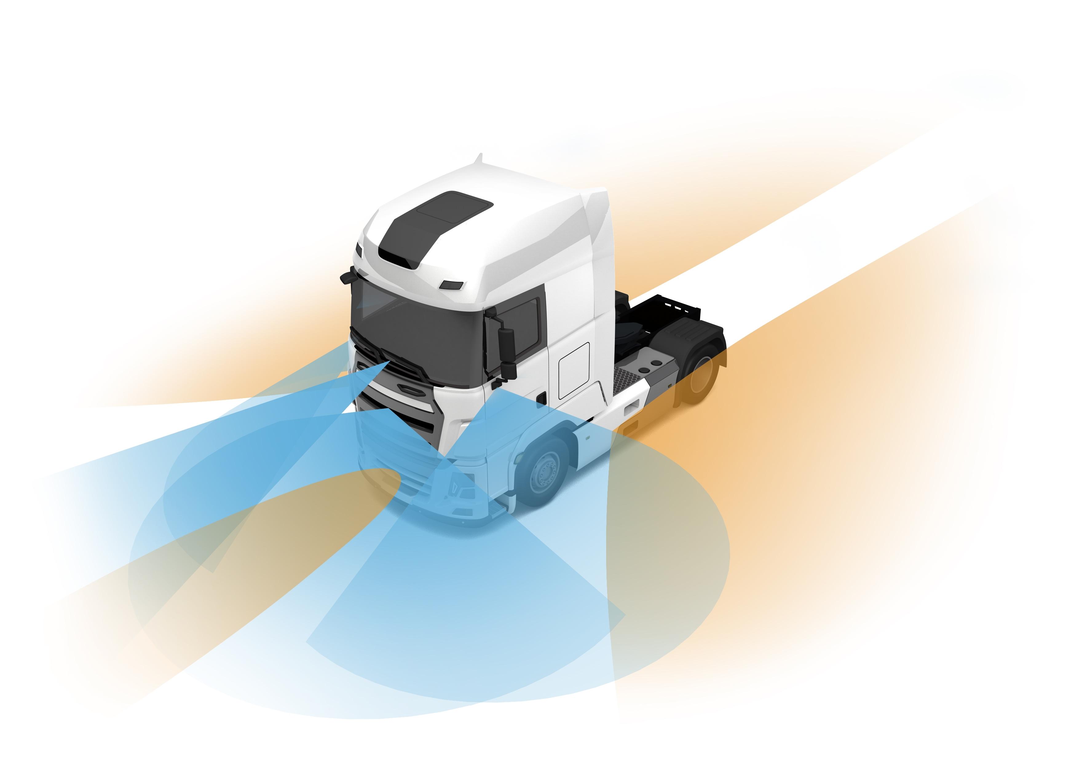 Projektfahrzeug mit Sensorfeld (Entwurf der IAV GmbH)